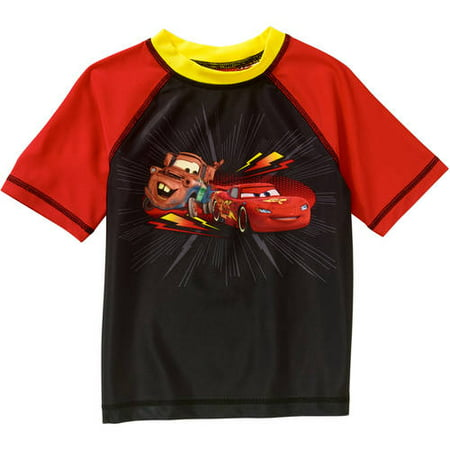 Cars Toddler Boy Short Sleeve Swimwear Rashguard Top