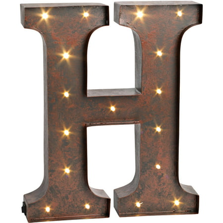 The gerson company 12quot high lighted metal letter quoth for Metal letters with lights