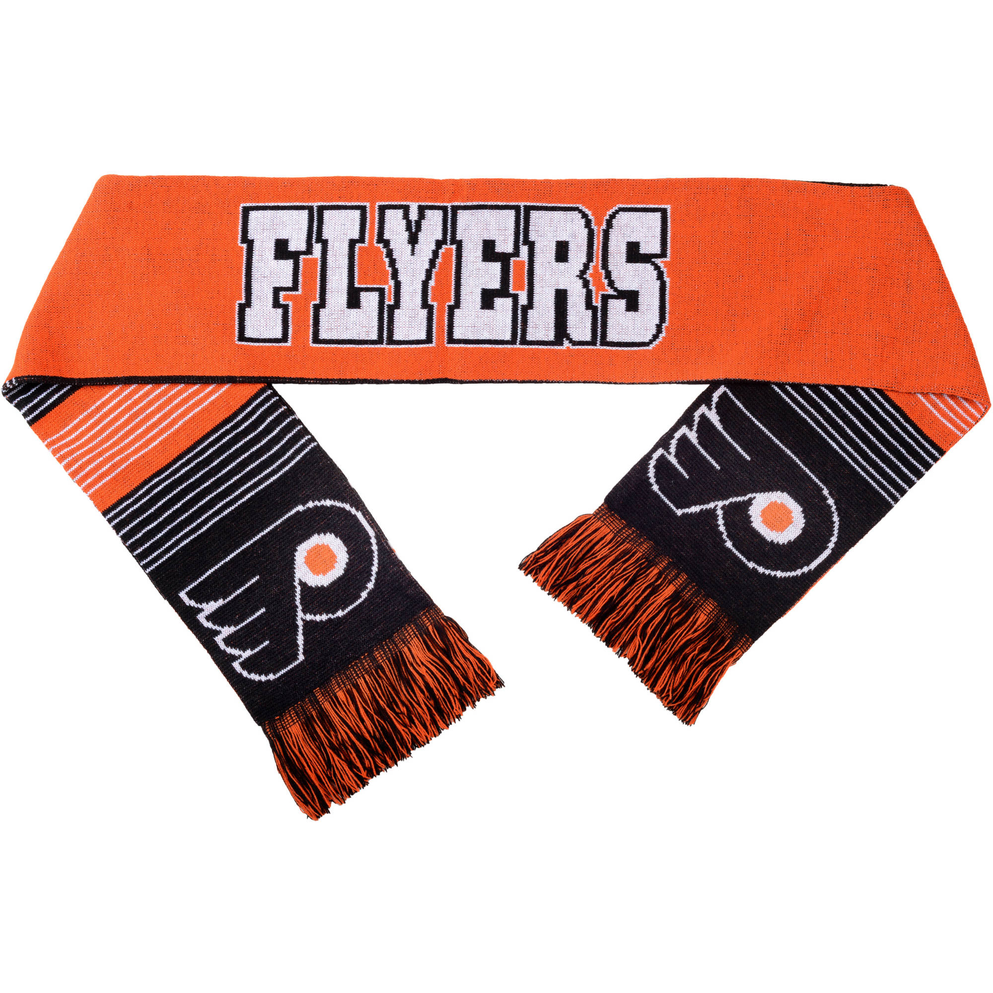 NHL Forever Collectibles Reversible Split Logo Scarf, Philadelphia Flyers