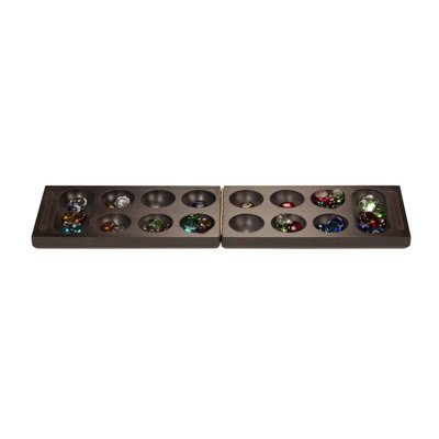 WE Games Foldable Wood Mancala Board Game- Dark Stain - image 2 of 4
