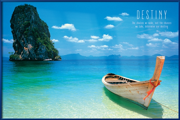 "Destiny motivational poster 24x36/"" Boat in Phuket Thailand"