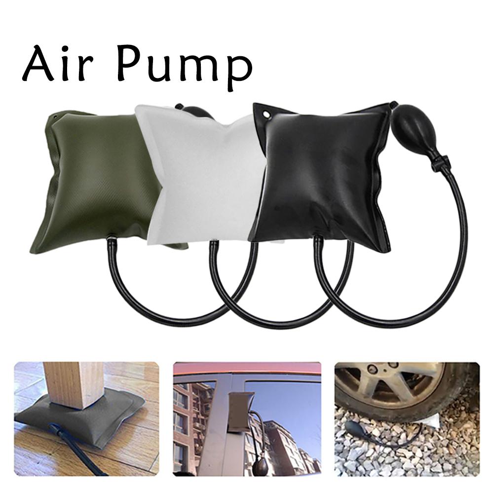 Car Door Tool Air Pump Adjustable Auto Repair Tool Thickened Car Door Lock Out Emergency Open Repair Air Cushion Tools Kit Inflatable Air Pump Wedge Black