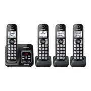 Panasonic Link2Cell Bluetooth Cordless Telephone with Digital Answering System, Includes 4 Handsets