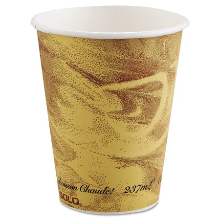Brown Paper Cups (SOLO Cup Company Mistique Polycoated Paper Cups, 8 oz, 1000)