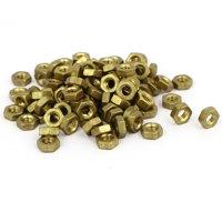 M4 Brass Machine Screw Insert Lock Hex Hexagon Nut Fastener 100pcs