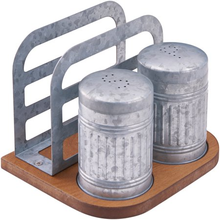 Better Homes & Gardens Galvanized Salt & Pepper Napkin Holder Set