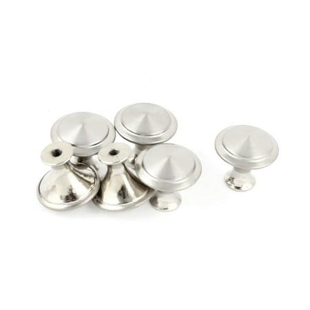 - Unique Bargains 6 Pcs Screw Fixed Metal Drawer Cupboard Cabinet Door Pull Knob Grip Silver Tone