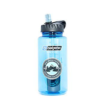 Epic Nalgene OG | Water Filtration Bottle | Wide Mouth 32 oz | American Made Bottle | USA Made Filter Removes 99.99% of Tap Water Contaminants Lead Chlorine Chromium 6 Arsenic Chloroform
