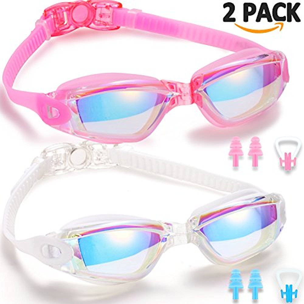 Noorlee Swim Goggles, 2 Pack Swimming Goggles for Adult Men Women Youth Kids Child, No Leaking Anti Fog UV 400... by LIVEDITOR LIGHTING