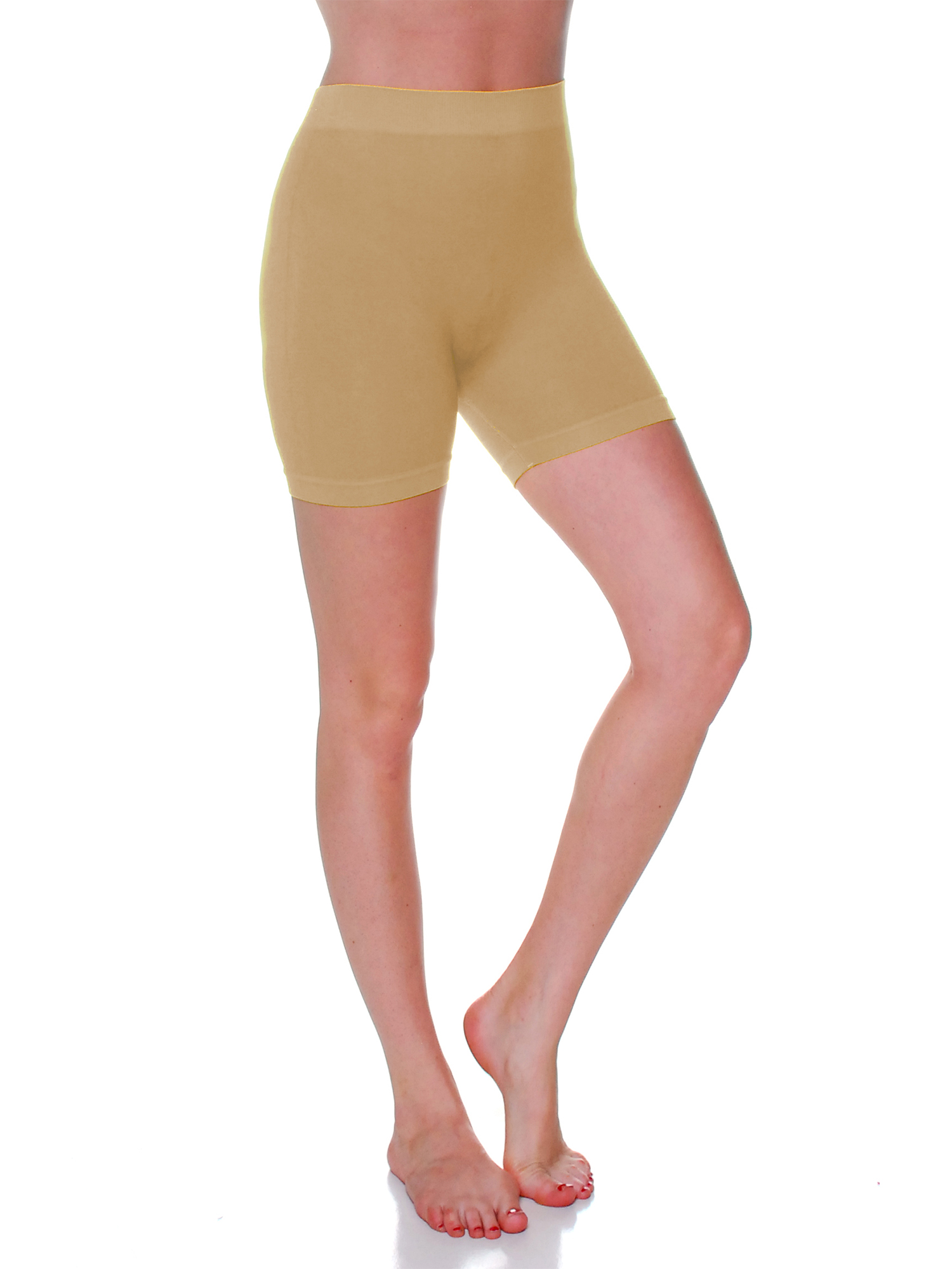 Essential Basic Women's 12 IN Stretchy Layering Short Leggings - Junior and Plus Sizes