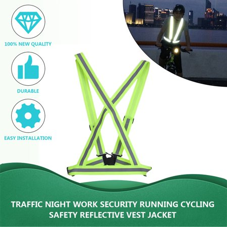 LESHP Traffic Night Work Security Running Cycling Safety Reflective Vest Jacket - image 3 de 12