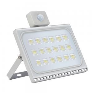 100W LED Flood Light Ultrathin Cool White with PIR Motion Sensor 110V