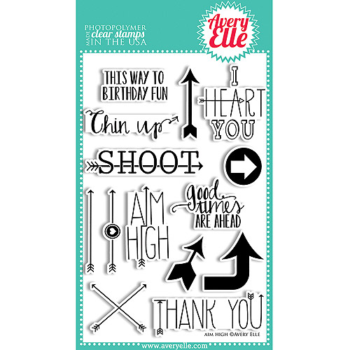 "Avery Elle 4"" x 6"" Clear Stamp Set"