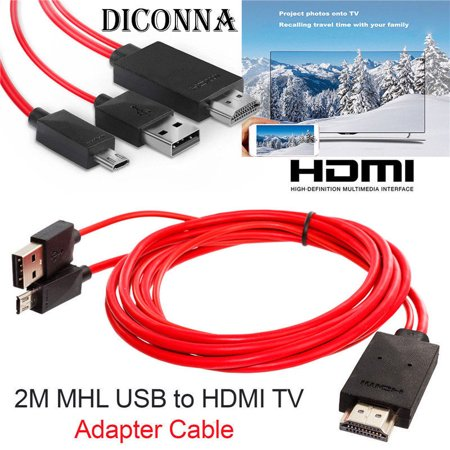 Micro USB to HDMI 1080P HD TV Cable Adapter for Android Samsung Phones 11PIN (Hdmi Cable Android Samsung)