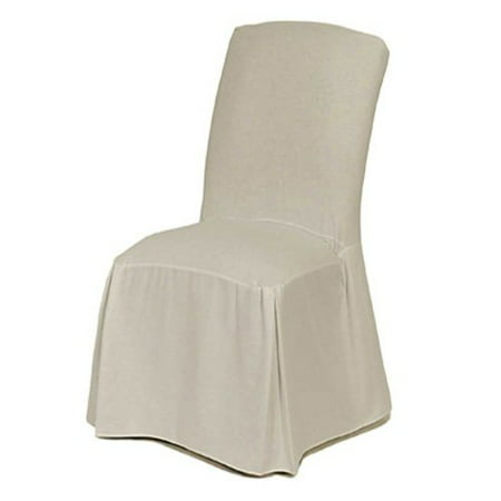Classic Slipcovers Cotton Duck Long Dining Chair