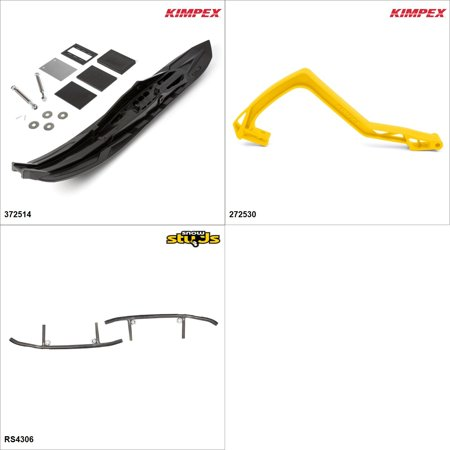 Kimpex - Arrow Ski Kit - Black, Ski-Doo GTX 600 2005 Black / Yellow  #KK00002004_176