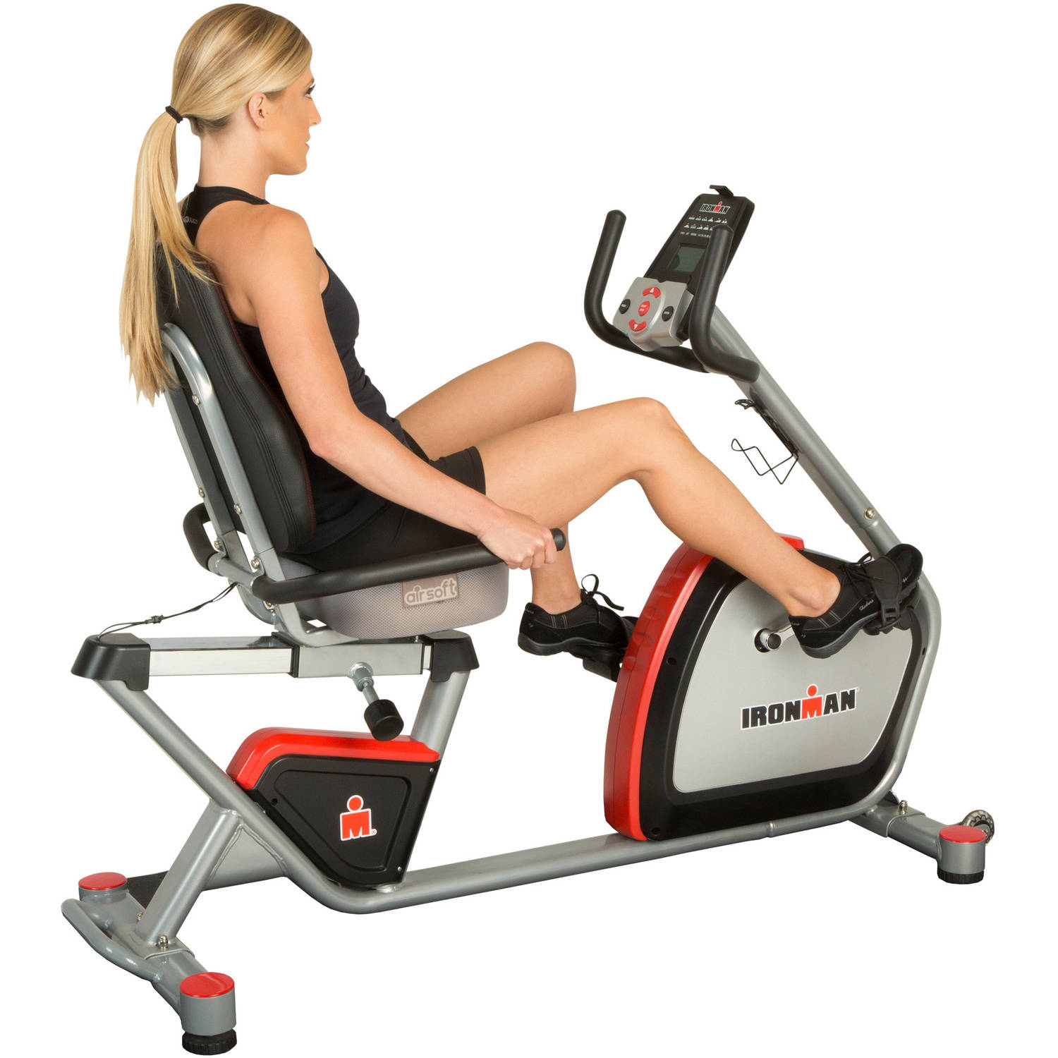 IRONMAN H-Class 410 Smart Technology Recumbent Exercise Bike with Bluetooth, IRONSTRONG Apps and Air Soft Seat