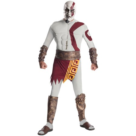 Ares God Of War Costume (Adult Men's God Of War Video Game Kratos Muscle Costume XL)