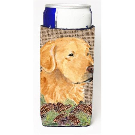 Golden Retriever On Faux Burlap With Pine Cones Michelob Ultra bottle sleeve for Slim Can - image 1 de 1