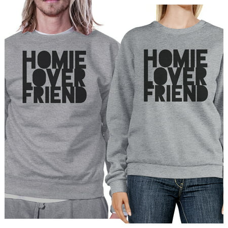 Homie Lover Friend Funny Couple Sweatshirts Gifts For Newlyweds