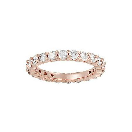 2ct Diamond Eternity Ring 14K Rose Gold Womens Wedding Anniversary (Eternity Anniversary Wedding Ring)