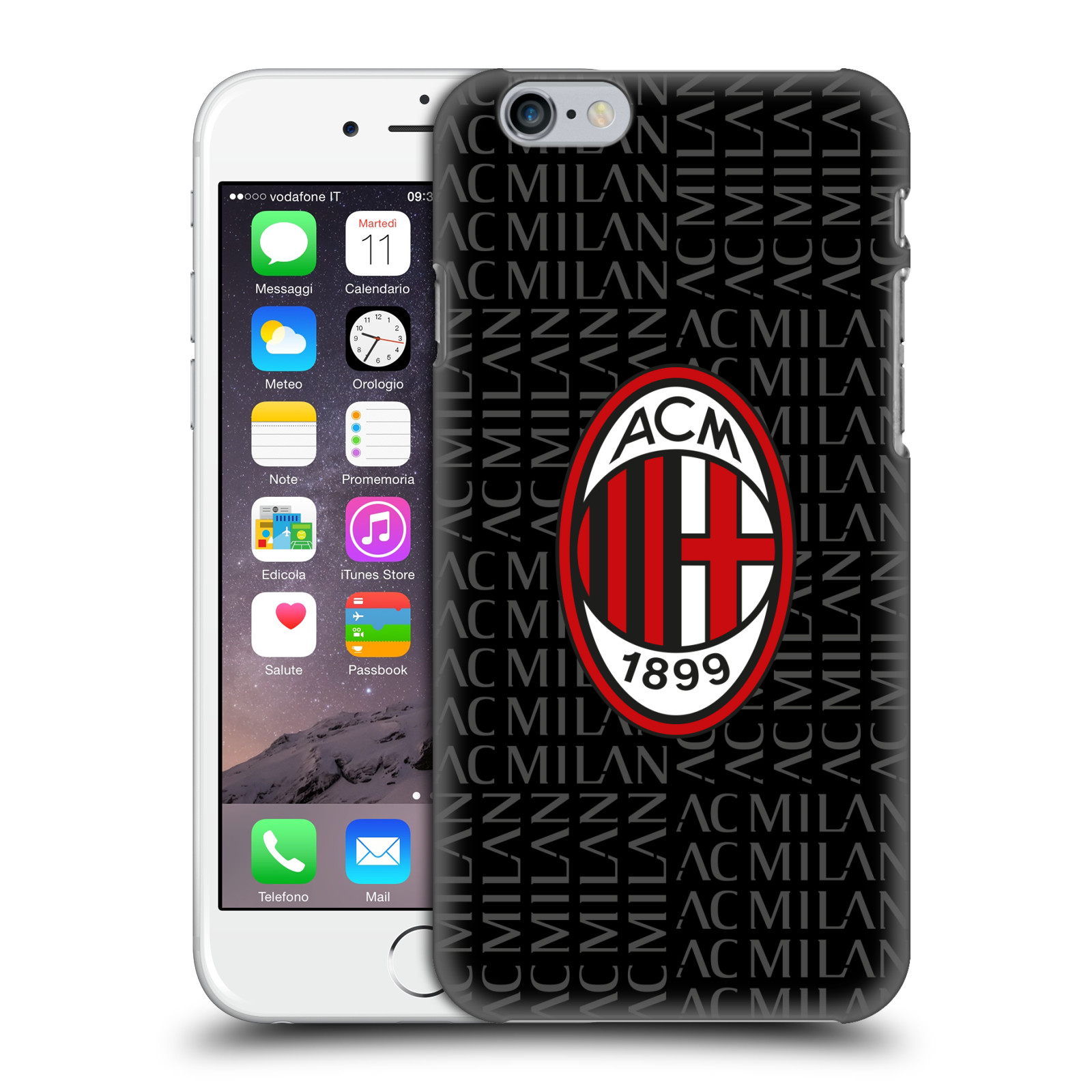 Calendario Ac Milan.Official Ac Milan 2018 19 Crest Patterns Hard Back Case For Apple Iphone Phones
