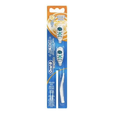 Oral-B Crossaction Power Battery Toothbrush Refill Heads, Soft - 2 Ea, 2 Pack Action Power Battery Toothbrush Refill