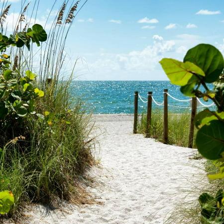 Boardwalk on the Beach - Miami - Florida Print Wall Art By Philippe Hugonnard - Miami Beach Florida Framed Art