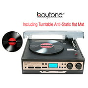 Boytone Bt27rc Black Turntable 3 Speed With Built In Speakers