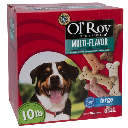 Ol' Roy Multi-Flavored Dog Biscuits for Large Dogs, 10 lbs