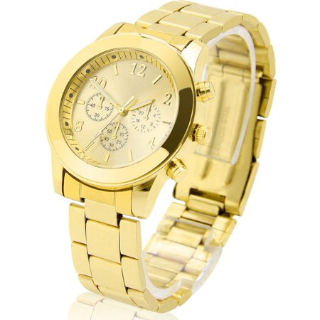 Concord Stainless Steel Wrist Watch - Fashion Ladies Women Girl Unisex Geneva Stainless Steel Quartz Wrist Watch