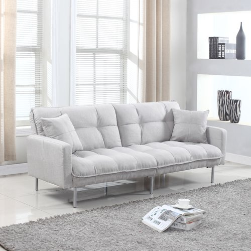 Latitude Run Winslow Modern Plush Tufted Convertible Sofa   Walmart.com