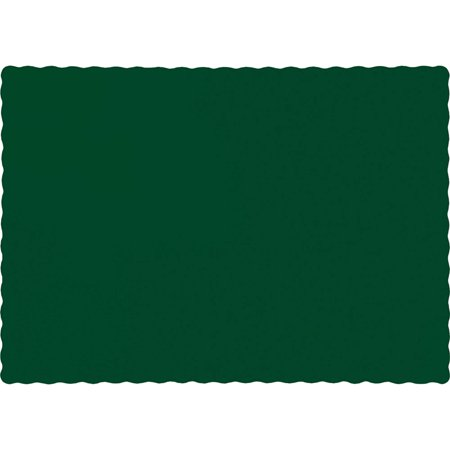 Creative Converting Hunter Green Placemats, 50-Pack