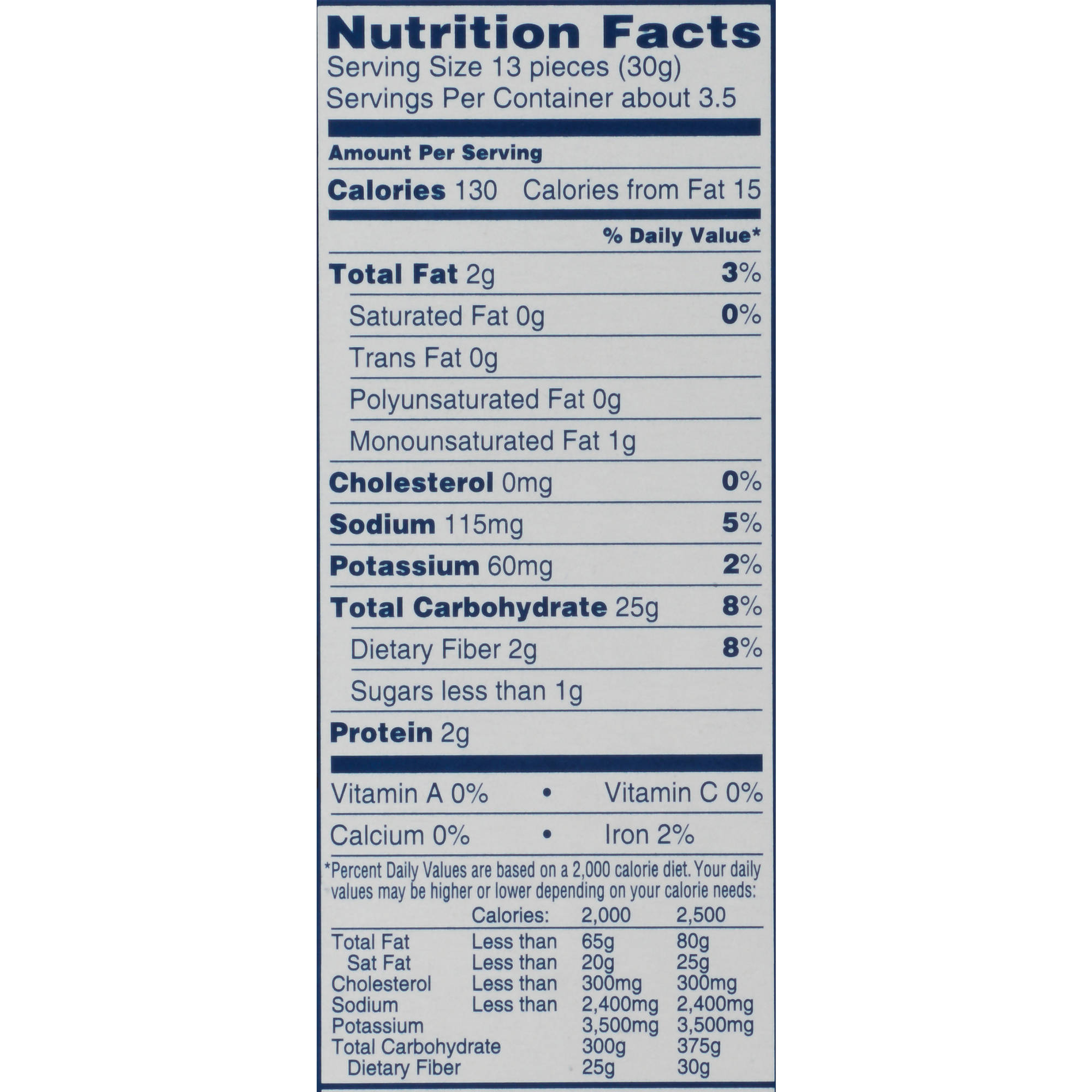 Quaker Chocolate Rice Cake Nutrition Facts