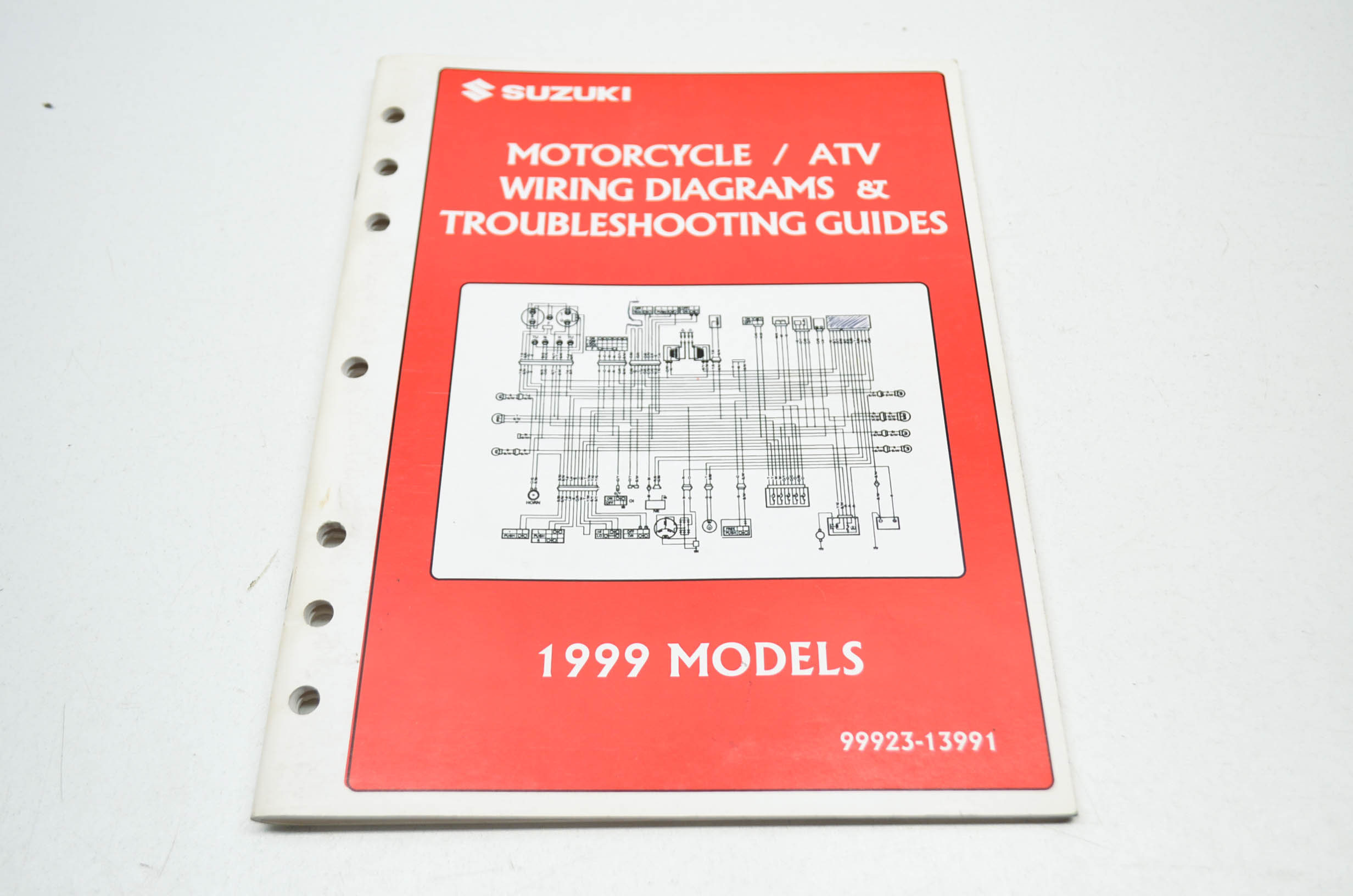 Oem Suzuki 99923-13991 1999 Motorcycle Atv Wiring Diagram Troubleshooting Guide