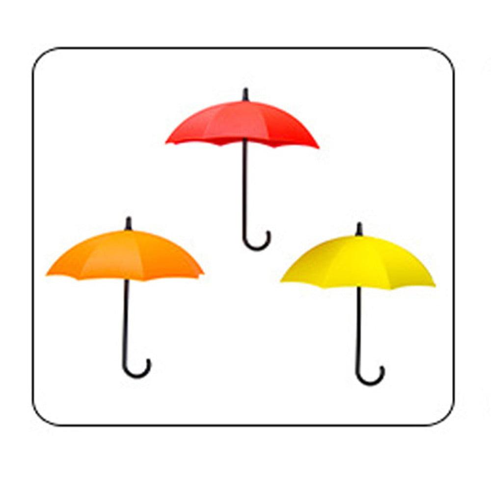 3pcs//set Cute Umbrella Wall Mount Key Wall Hook Hanger Organizer Holder Durable