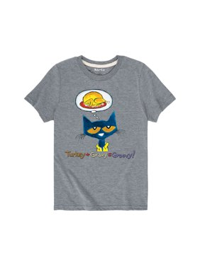 pete the cat turkey + gravy = groovy! - youth short sleeve tee