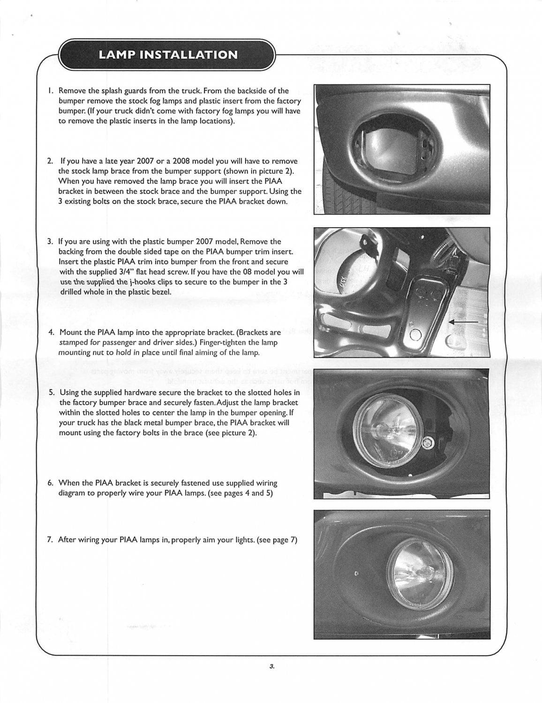 2007 2010 Toyota Tundra Piaa 540 Driving Light Brackets 30352 Fog Wires Diagram