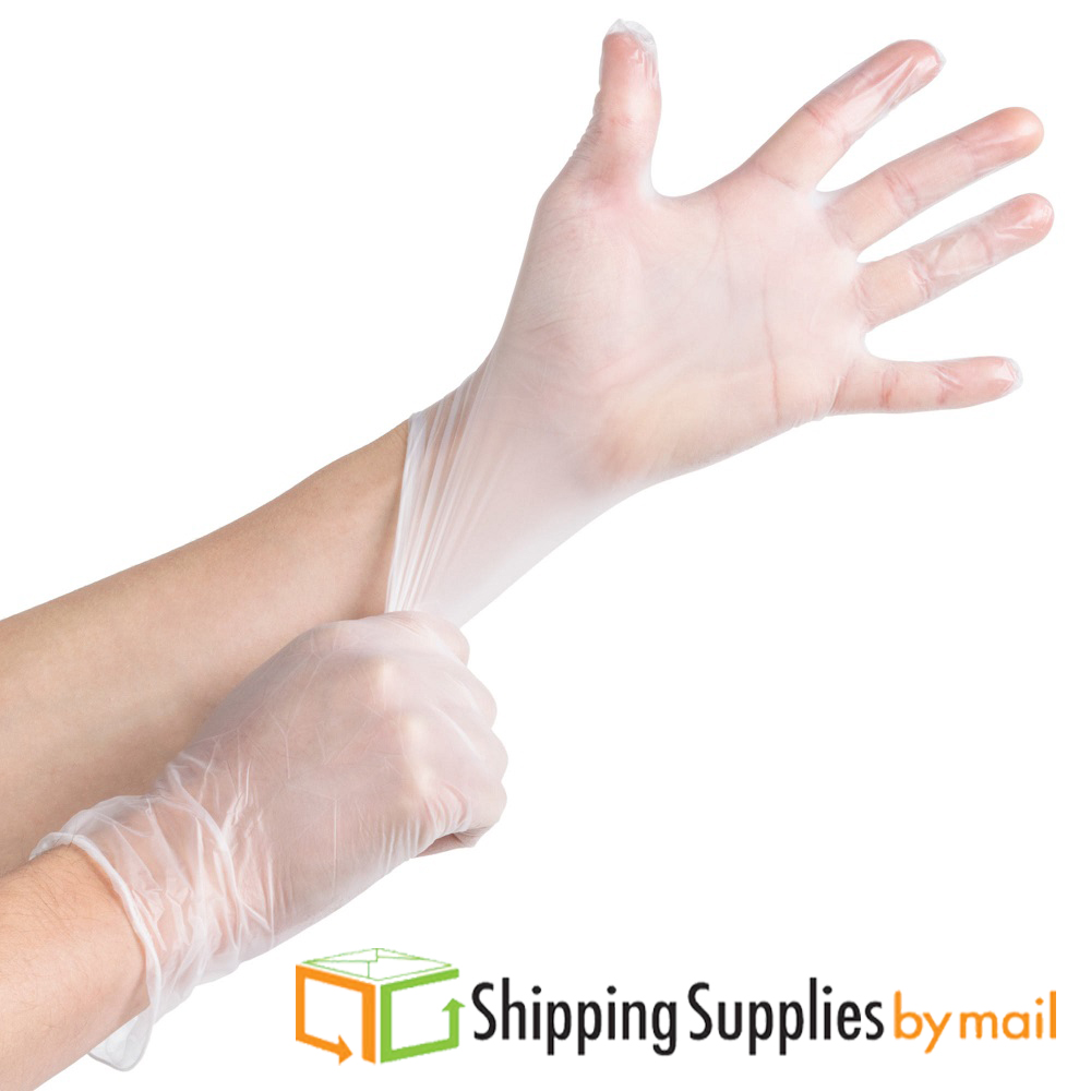 Disposable Vinyl Powdered Gloves, X-Large, Industrial-Grade by SSBM 2000 PCS