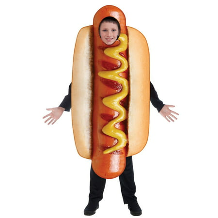 Kids Sublimation Hot Dog Costume Costume - Halloween Hotdog Fingers
