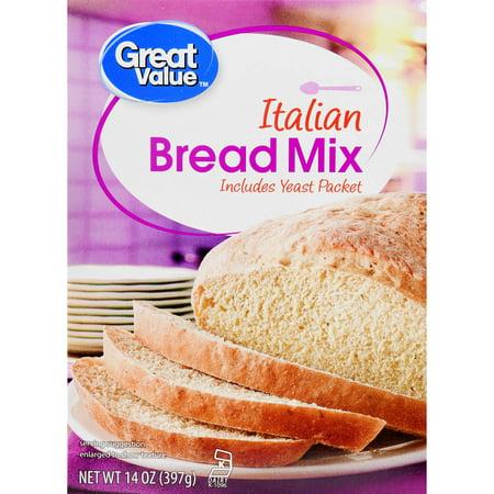 (3 Pack) Great Value Bread Mix, Italian, 14 oz