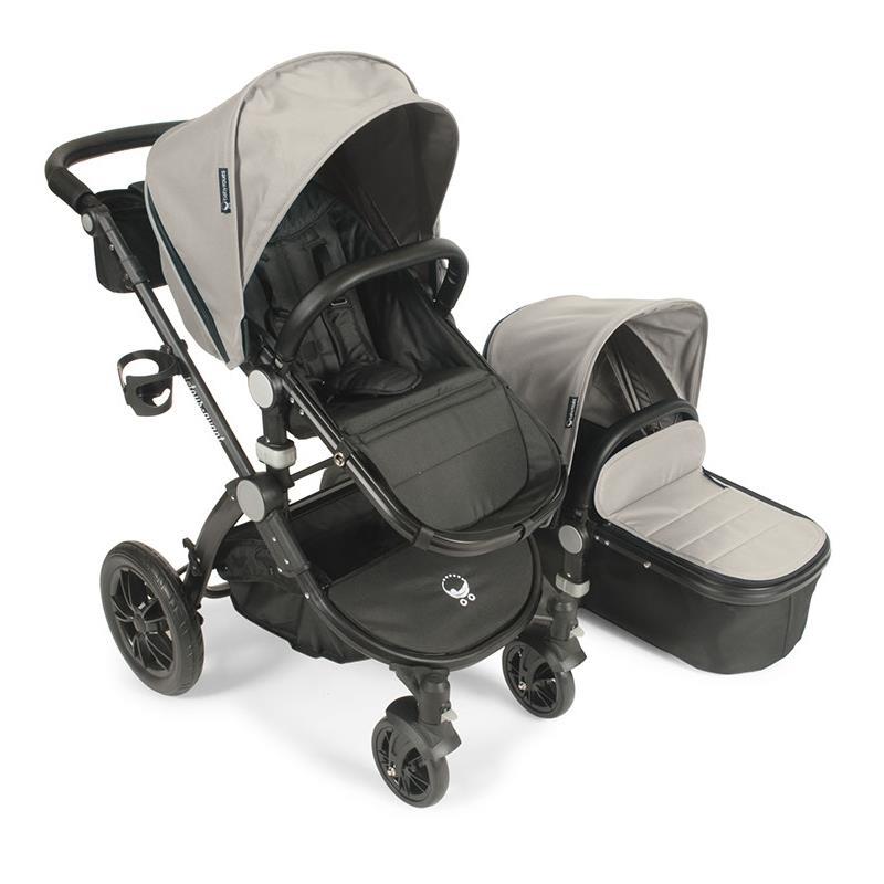 Babyroues letour avant stroller w bassinet black frame tan fabric by Babyroues