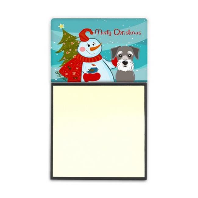 Carolines Treasures BB1826SN Snowman With Schnauzer Sticky Note Holder - image 1 de 1