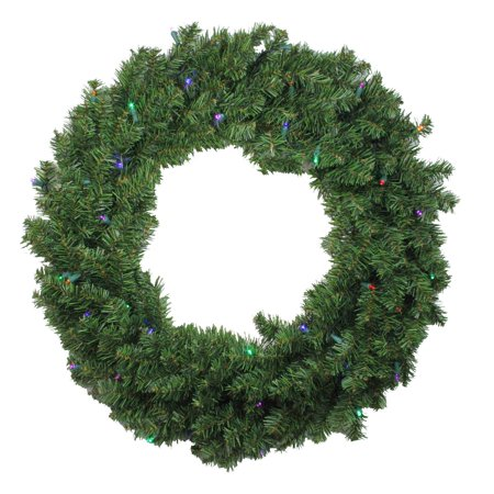 30 battery operated canadian pine artificial christmas wreath multi led lights