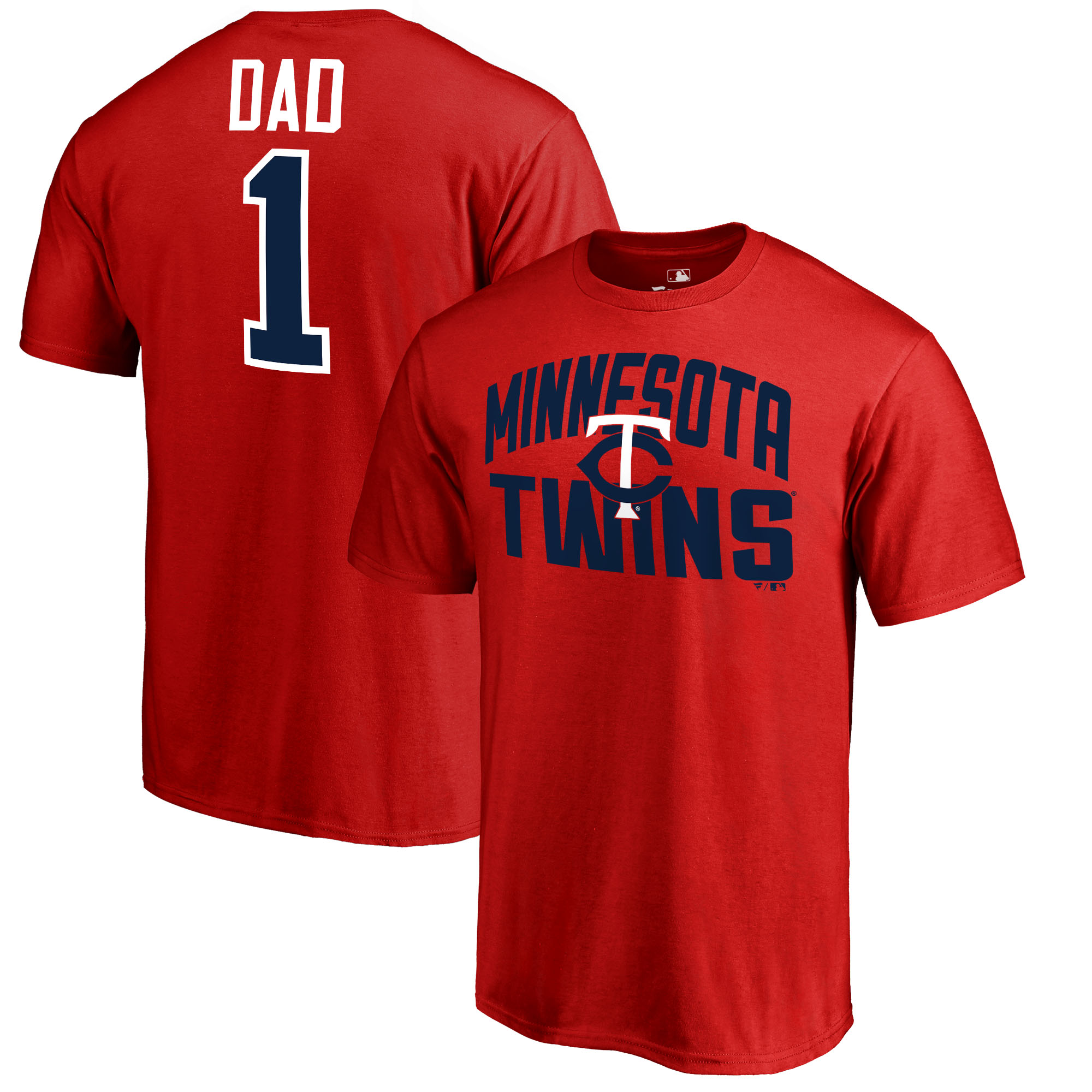 Minnesota Twins Fanatics Branded 2018 Father's Day Number 1 Dad T-Shirt - Red