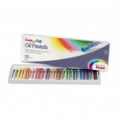 Pentel Round Stick Oil Pastel - 25 per set