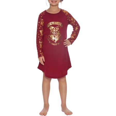 Harry Potter 'Hermione Granger Hogwarts Gold Crest' Raglan Nightgown (Little Girls & Big - Harry Potter Outfits