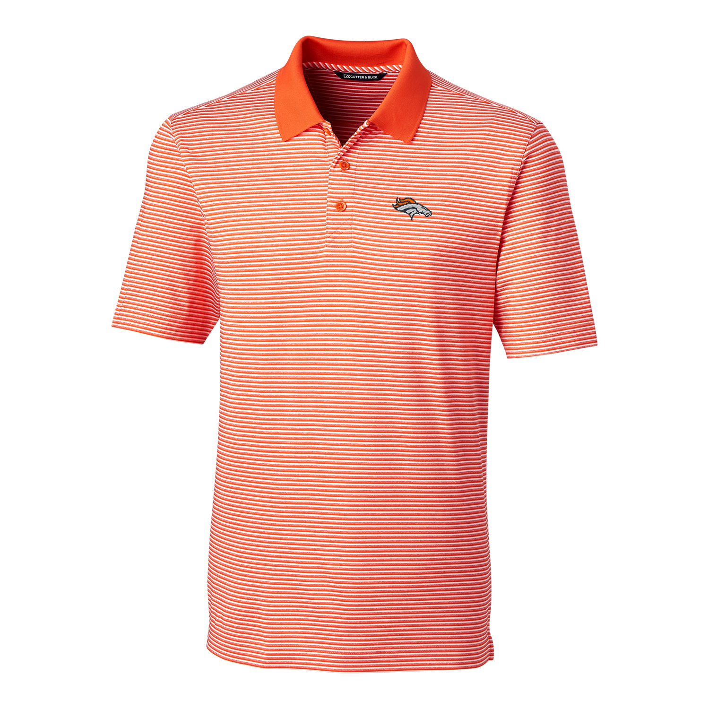 Denver Broncos Cutter & Buck Big & Tall Forge Tonal Stripe Polo - Orange