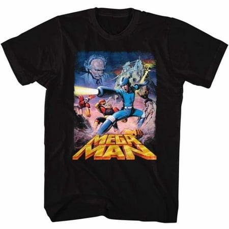 Mega Man Gaming Postery Megaman Adult Short Sleeve T - Gaming Costumes