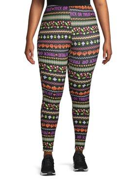 No Comment Juniors' Plus Size Halloween Print Legging